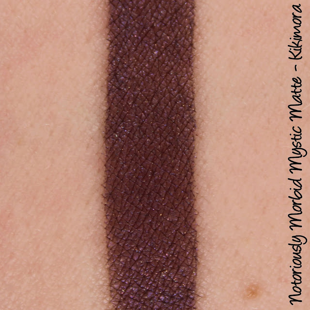 Notoriously Morbid Mystic Matte - Kikimora Swatches & Review