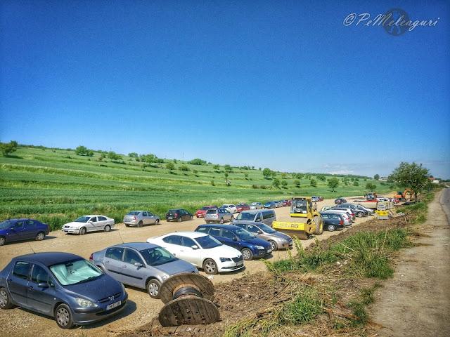 Salina Turda parcarea amenajată