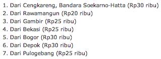 info tarif bus Damri menuju Bandara Halim Perdanakusuma