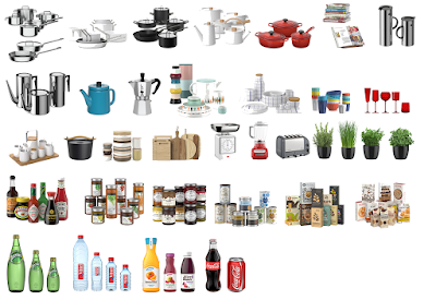 Download component kitchen accessories for sketchup