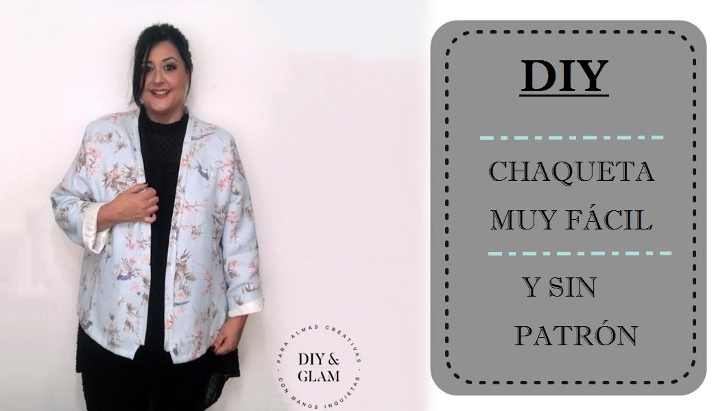 Diy cómo hacer una chaqueta sin patrón | Diy & glam