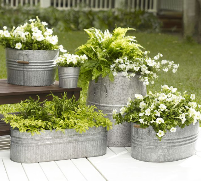 plastic chairs target wicker indoor galvanized metal tubs, buckets, & pails as planters - driven by decor