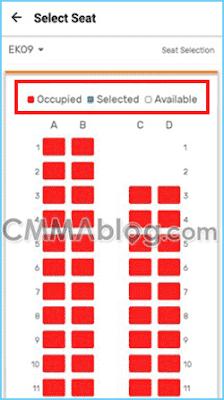 cara memilih tempat duduk di kai access