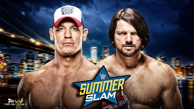 "Download Official HQ Wallpaper for WWE SummerSlam 2016 ""John Cena vs AJ Styles"""