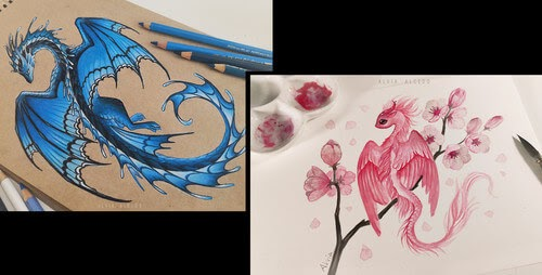 00-Alvia-Alcedo-Fantasy-Dragons-Drawings-and-Paintings-www-designstack-co