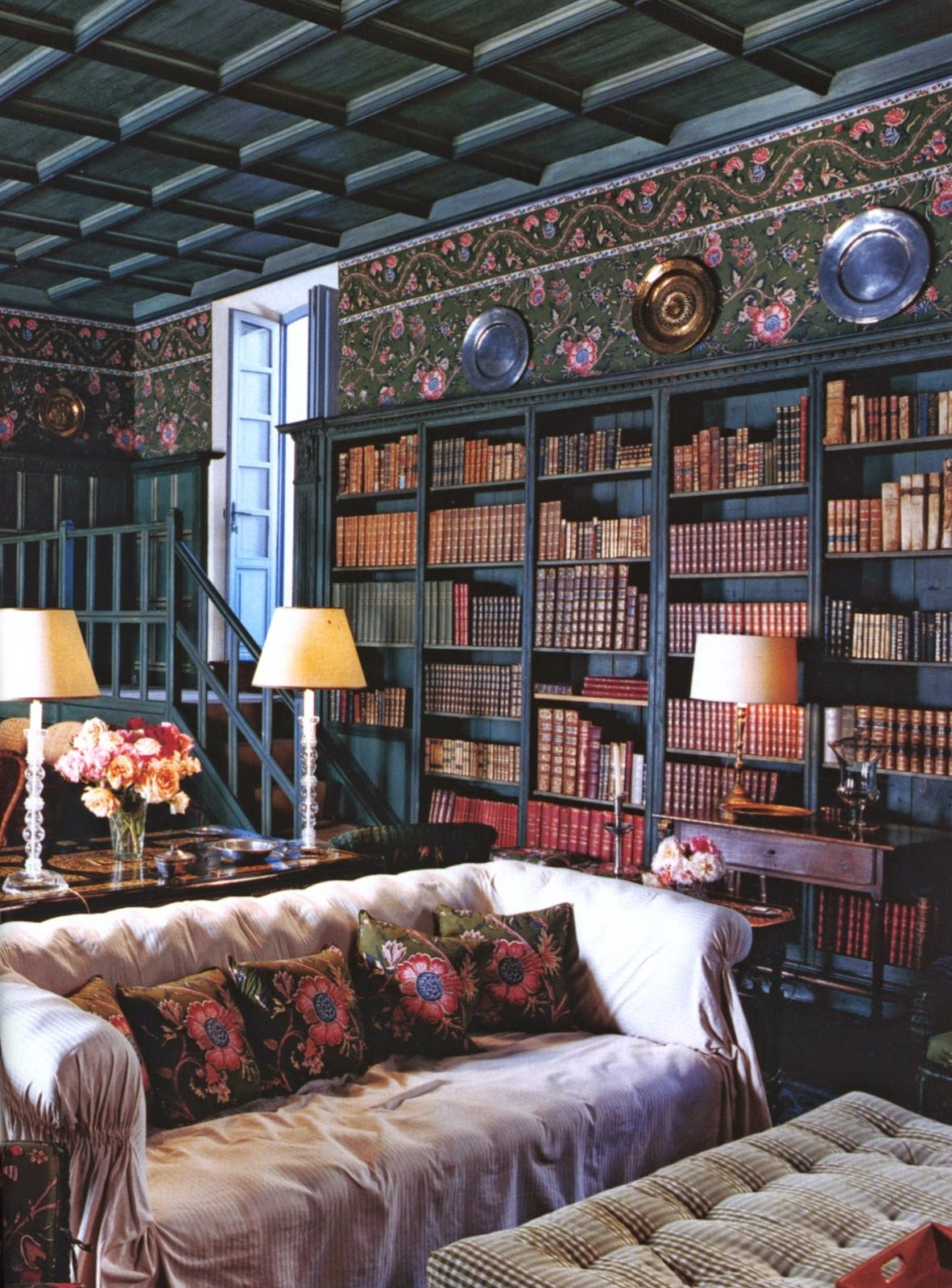 Old Study Room: Spencer Alley: Decorator Bookshelves