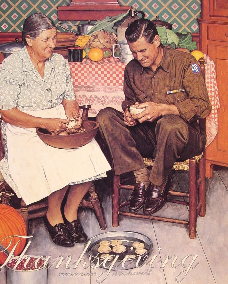 Facebook Image Thanksgiving Norman Rockwell