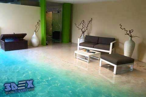 3d epoxy floor, 3d flooring, 3d beach floor art