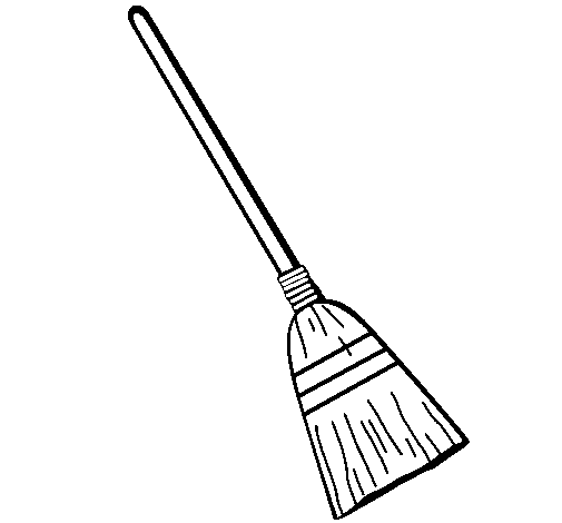 broom coloring pages - photo#2