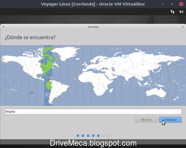 Activamos zona horaria en Linux Voyager