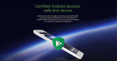 جوجل ستضع علامة مميزة لهواتف الاندرويد المرخصة من قبلها