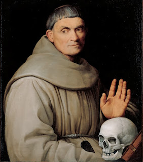 friar with skull
