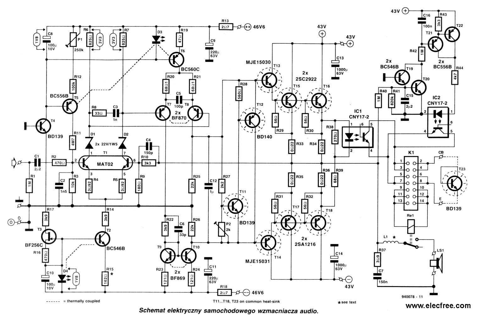 200 Watt Power Amplifier For Car By 2sc Sa Tips