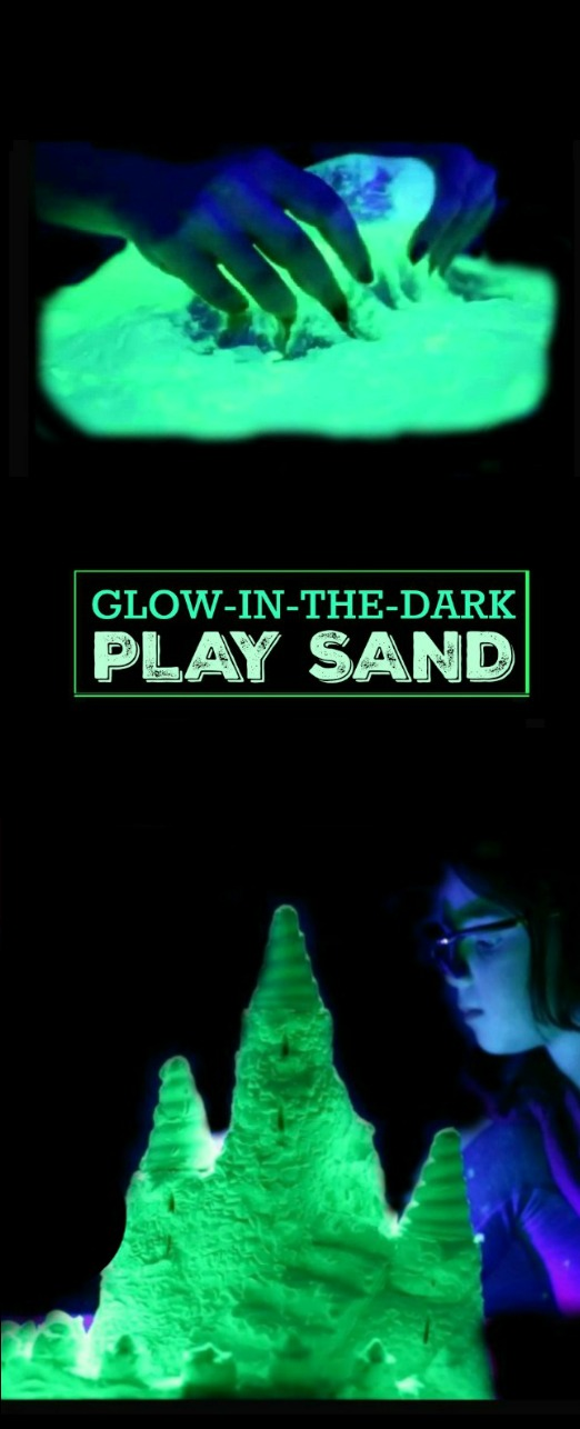 DIY GLOW-IN-THE-DARK SAND FOR KIDS.  How flipping cool!!!
