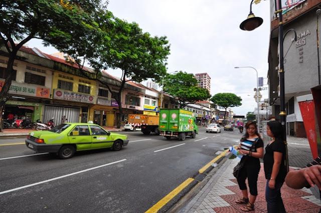 Jalan Rajah Laut Street where Hop-On Hop-Off bus will stop