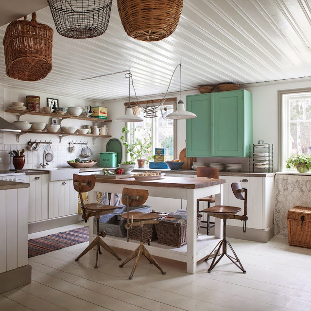 Eclectic Kitchens: An Eclectic Country Kitchen