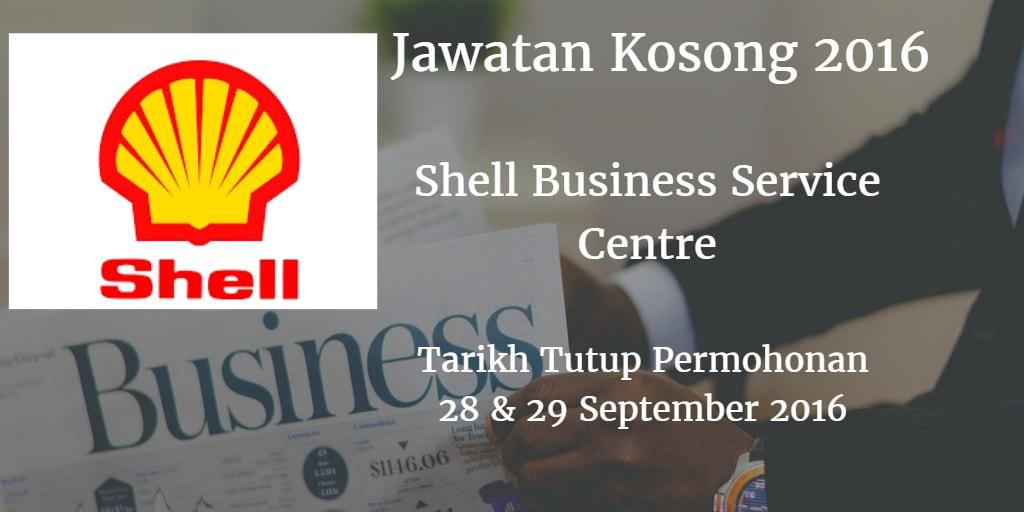 Jawatan Kosong Shell Business Service Centre  28 & 29 September 2016