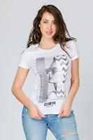 Tricou Empire alb cu imprimeu