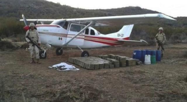 Sicario solo le costo 7 minutos cargar 300 kilos de droga a avioneta