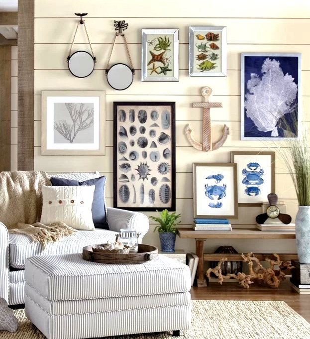 Coastal Wall Decor Gallery Wall Ideas