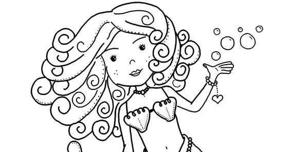 Desenho De Sereia Para Colorir