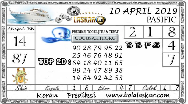 Prediksi Togel PASIFIC LASKAR4D 10  APRIL 2019