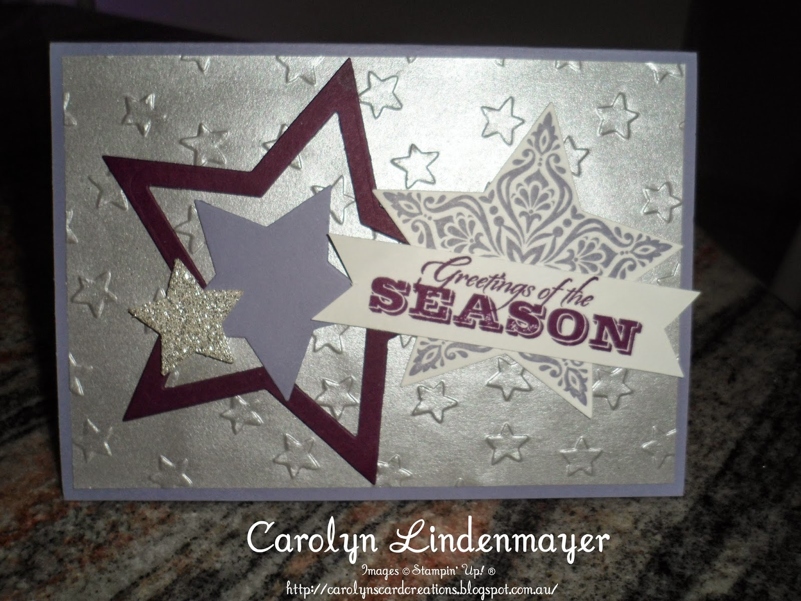 Greetings Of The Season Star Collage Card