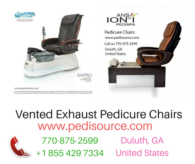 Vented Exhaust Pedicure Chairs
