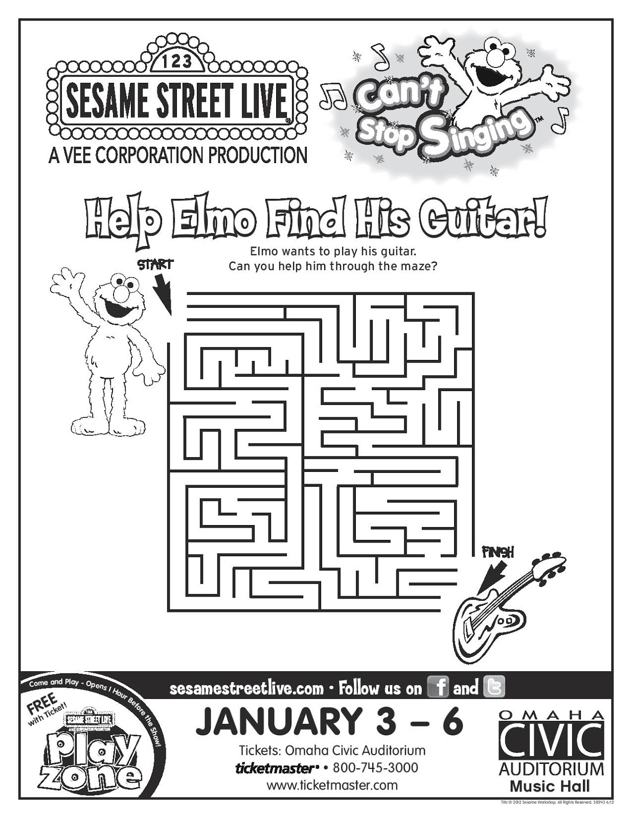 Classic Children S Books Sesame Street Live Omaha Ne January 3 6
