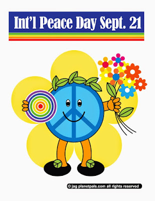 Let's make the world in one #PEACE!  #Peaceday Everyday