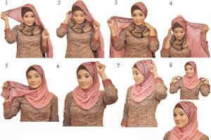 Cara memakai hijab 3