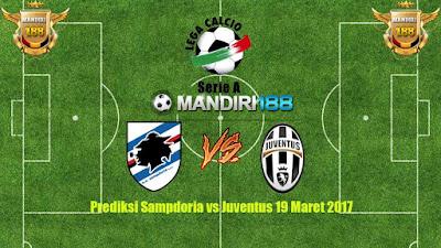 AGEN BOLA - Prediksi Sampdoria vs Juventus 19 Maret 2017