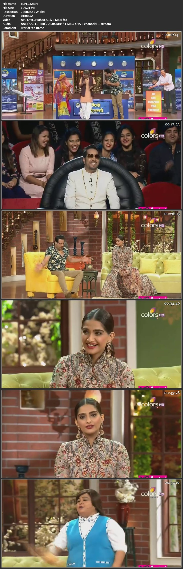 Screen Shot Of Comedy Nights Live 14th February 2016 Episode 03 200MB Watch Online