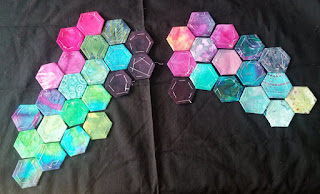 Hexies to represent Northern Lights