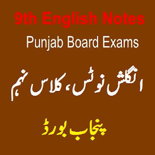 All Punjab Districts BISE Boards 9th Class English Notes