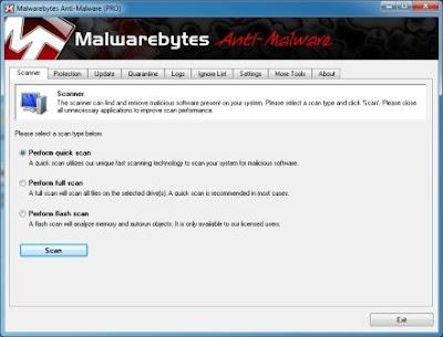 Malwarebytes Anti-Malware PRO 1.60