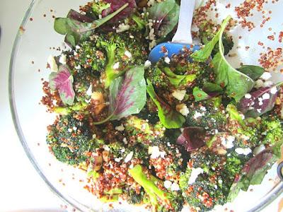 Stacey Snacks: Roasted Broccoli Quinoa Salad w/ Marcona Almonds