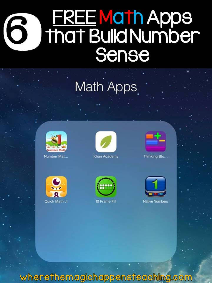 Where the Magic Happens: FREE Math Apps that Build Number Sense