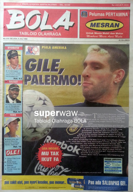 Tabloid BOLA: GILE PALERMO!