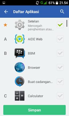 Cara Me- Password Setiap Aplikasi Android