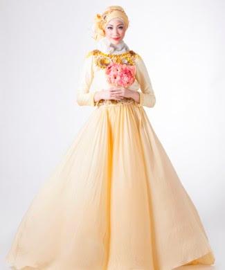 Gaun Pengantin Muslimah cantik Elegan Dian Pelangi