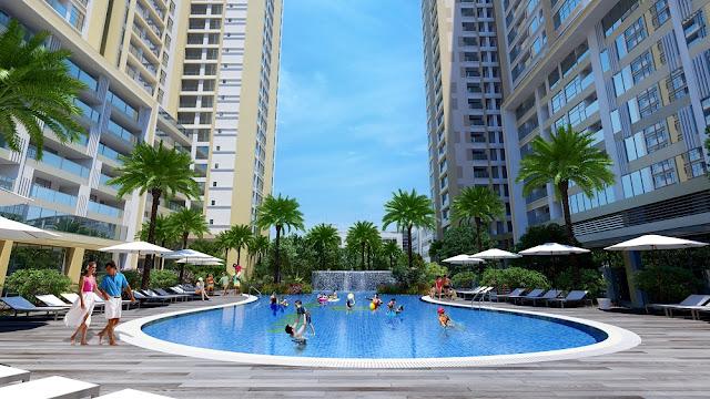 Bể bơi chung cư Booyoung Vina