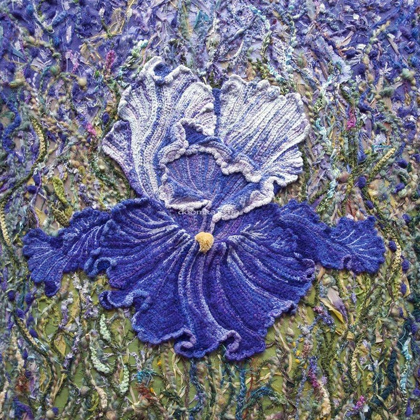 szydelkowe kwiaty obrazy