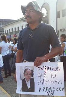 Cuerpo hallado en San Rafael Veracruz pertenece a enfermera desaparecida