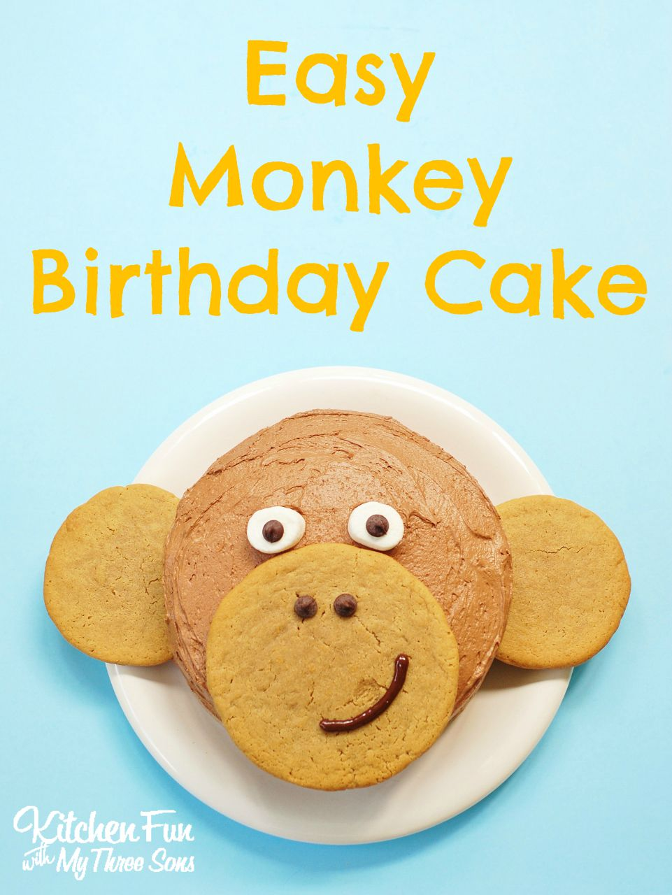 Fantastic Easy Monkey Birthday Cake Kitchen Fun With My 3 Sons Personalised Birthday Cards Paralily Jamesorg