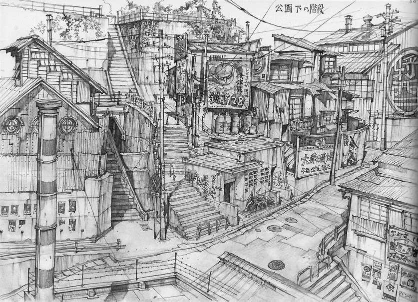 06-Teikoku-Shounen-Architectural-Drawings-in-Color-and-Black-and-White-www-designstack-co