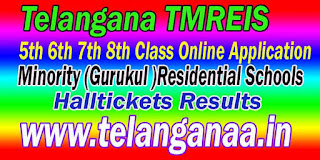 TMREIS 2016 Telangana Minority (Gurukul )Residential Schools 5th 6th 7th Class Online Application Apply