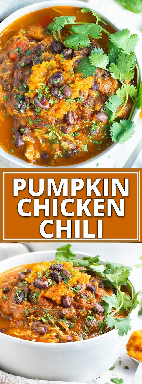 Instant Pot Pumpkin Chicken Chili