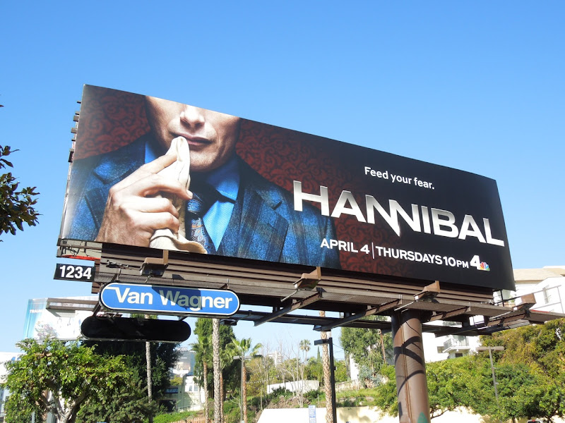 Hannibal series premiere TV billboard