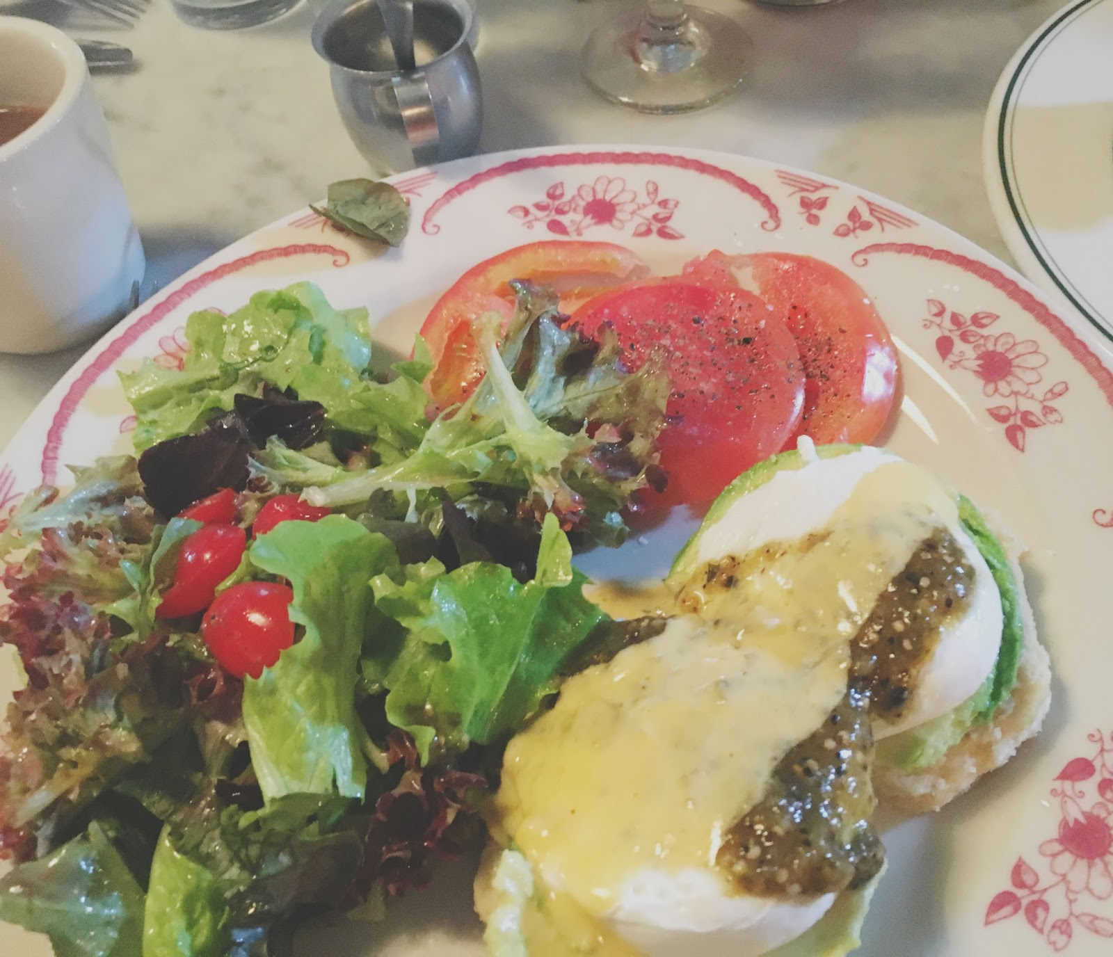 eggs benedict at Down House, a restaurant in Houston, Texas